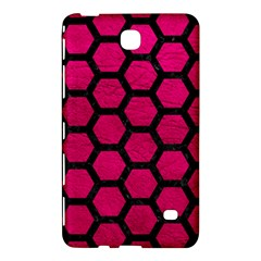 Hexagon2 Black Marble & Pink Leather Samsung Galaxy Tab 4 (8 ) Hardshell Case  by trendistuff