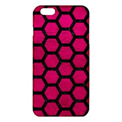 Hexagon2 Black Marble & Pink Leather Iphone 6 Plus/6s Plus Tpu Case by trendistuff