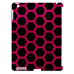 Hexagon2 Black Marble & Pink Leather (r) Apple Ipad 3/4 Hardshell Case (compatible With Smart Cover) by trendistuff