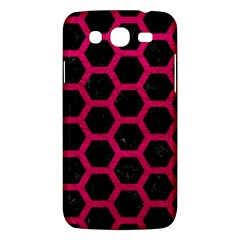 Hexagon2 Black Marble & Pink Leather (r) Samsung Galaxy Mega 5 8 I9152 Hardshell Case  by trendistuff