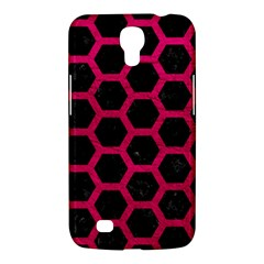 Hexagon2 Black Marble & Pink Leather (r) Samsung Galaxy Mega 6 3  I9200 Hardshell Case by trendistuff