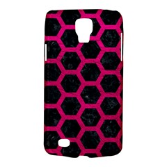 Hexagon2 Black Marble & Pink Leather (r) Galaxy S4 Active by trendistuff