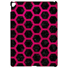 Hexagon2 Black Marble & Pink Leather (r) Apple Ipad Pro 12 9   Hardshell Case by trendistuff
