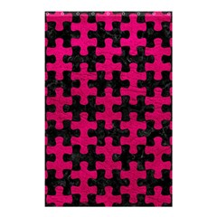 Puzzle1 Black Marble & Pink Leather Shower Curtain 48  X 72  (small)  by trendistuff