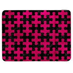 Puzzle1 Black Marble & Pink Leather Samsung Galaxy Tab 7  P1000 Flip Case by trendistuff