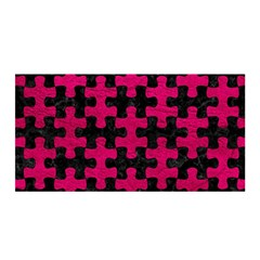 Puzzle1 Black Marble & Pink Leather Satin Wrap by trendistuff