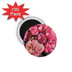 Beautiful Peonies 1 75  Magnets (100 Pack)  by 8fugoso