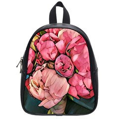 Beautiful Peonies School Bag (small) by 8fugoso
