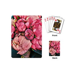 Beautiful Peonies Playing Cards (mini)  by 8fugoso