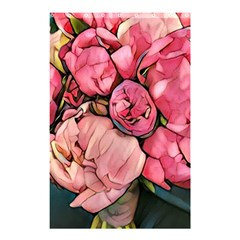 Beautiful Peonies Shower Curtain 48  X 72  (small)  by 8fugoso