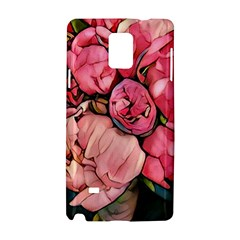 Beautiful Peonies Samsung Galaxy Note 4 Hardshell Case by 8fugoso