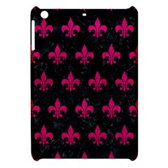 Royal1 Black Marble & Pink Leather Apple Ipad Mini Hardshell Case by trendistuff