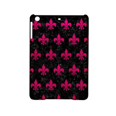 Royal1 Black Marble & Pink Leather Ipad Mini 2 Hardshell Cases by trendistuff