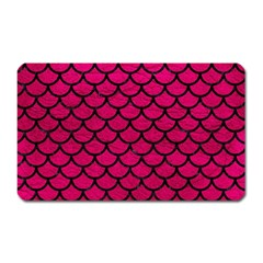 Scales1 Black Marble & Pink Leather Magnet (rectangular) by trendistuff