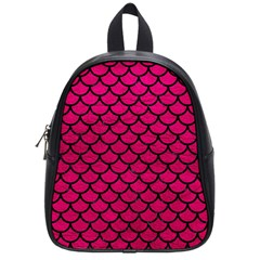 Scales1 Black Marble & Pink Leather School Bag (small) by trendistuff