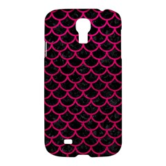 Scales1 Black Marble & Pink Leather (r) Samsung Galaxy S4 I9500/i9505 Hardshell Case by trendistuff