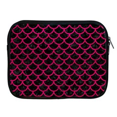 Scales1 Black Marble & Pink Leather (r) Apple Ipad 2/3/4 Zipper Cases by trendistuff