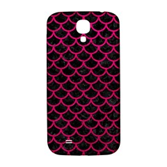 Scales1 Black Marble & Pink Leather (r) Samsung Galaxy S4 I9500/i9505  Hardshell Back Case by trendistuff