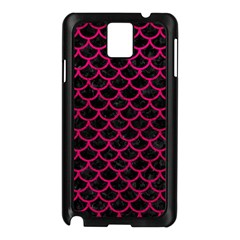 Scales1 Black Marble & Pink Leather (r) Samsung Galaxy Note 3 N9005 Case (black) by trendistuff