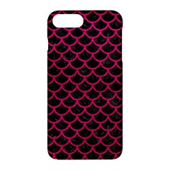 Scales1 Black Marble & Pink Leather (r) Apple Iphone 7 Plus Hardshell Case by trendistuff
