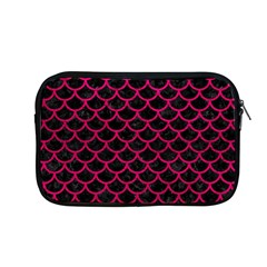 Scales1 Black Marble & Pink Leather (r) Apple Macbook Pro 13  Zipper Case by trendistuff