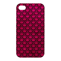 Scales2 Black Marble & Pink Leather Apple Iphone 4/4s Hardshell Case by trendistuff