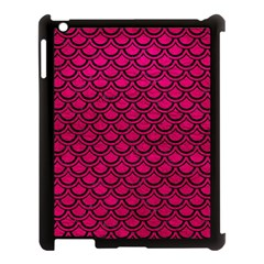Scales2 Black Marble & Pink Leather Apple Ipad 3/4 Case (black) by trendistuff