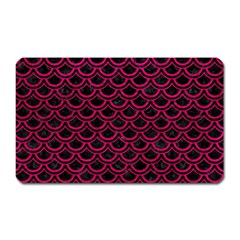Scales2 Black Marble & Pink Leather (r) Magnet (rectangular) by trendistuff