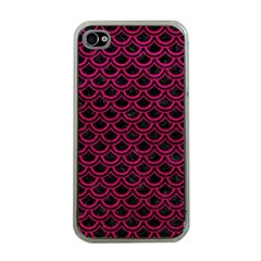 Scales2 Black Marble & Pink Leather (r) Apple Iphone 4 Case (clear) by trendistuff