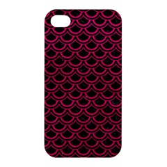 Scales2 Black Marble & Pink Leather (r) Apple Iphone 4/4s Premium Hardshell Case by trendistuff