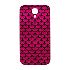 Scales3 Black Marble & Pink Leather Samsung Galaxy S4 I9500/i9505  Hardshell Back Case by trendistuff