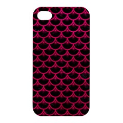 Scales3 Black Marble & Pink Leather (r) Apple Iphone 4/4s Premium Hardshell Case by trendistuff