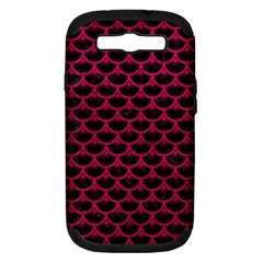 Scales3 Black Marble & Pink Leather (r) Samsung Galaxy S Iii Hardshell Case (pc+silicone) by trendistuff