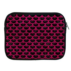 Scales3 Black Marble & Pink Leather (r) Apple Ipad 2/3/4 Zipper Cases by trendistuff