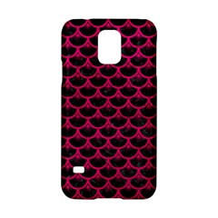 Scales3 Black Marble & Pink Leather (r) Samsung Galaxy S5 Hardshell Case  by trendistuff