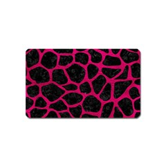 Skin1 Black Marble & Pink Leather Magnet (name Card) by trendistuff