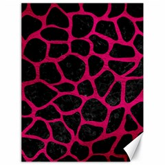 Skin1 Black Marble & Pink Leather Canvas 18  X 24   by trendistuff