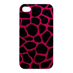Skin1 Black Marble & Pink Leather Apple Iphone 4/4s Premium Hardshell Case by trendistuff