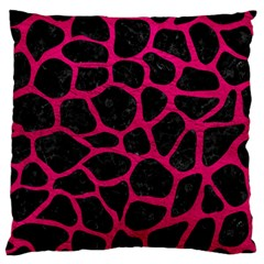 Skin1 Black Marble & Pink Leather Large Cushion Case (one Side) by trendistuff