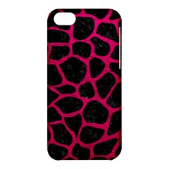 Skin1 Black Marble & Pink Leather Apple Iphone 5c Hardshell Case by trendistuff