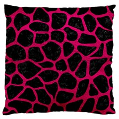 Skin1 Black Marble & Pink Leather Standard Flano Cushion Case (two Sides) by trendistuff