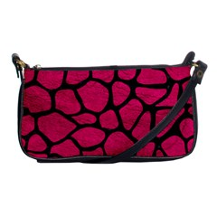 Skin1 Black Marble & Pink Leather (r) Shoulder Clutch Bags by trendistuff