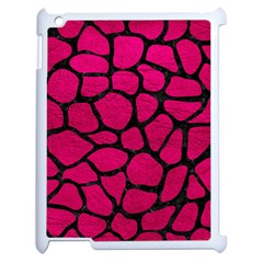 Skin1 Black Marble & Pink Leather (r) Apple Ipad 2 Case (white) by trendistuff