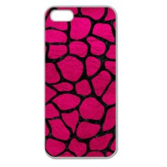 Skin1 Black Marble & Pink Leather (r) Apple Seamless Iphone 5 Case (clear) by trendistuff