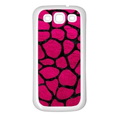 Skin1 Black Marble & Pink Leather (r) Samsung Galaxy S3 Back Case (white) by trendistuff