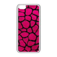 Skin1 Black Marble & Pink Leather (r) Apple Iphone 5c Seamless Case (white) by trendistuff