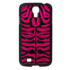 Skin2 Black Marble & Pink Leather Samsung Galaxy S4 I9500/ I9505 Case (black) by trendistuff