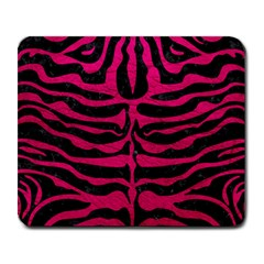 Skin2 Black Marble & Pink Leather (r) Large Mousepads by trendistuff