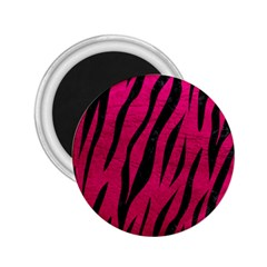 Skin3 Black Marble & Pink Leather 2 25  Magnets by trendistuff