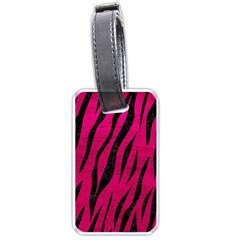 Skin3 Black Marble & Pink Leather Luggage Tags (one Side)  by trendistuff